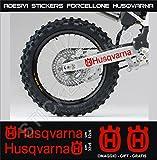 Adesivi stickers HUSQVARNA forcellone moto motorbike Cod.0647 (Rosso cod. 031)