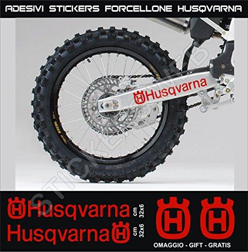 Aufkleber stickers HUSQVARNA Fahrradgabel moto decal bike-Motorrad- Cod. 0647 (Rosso cod. 031)