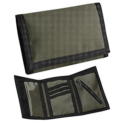BagBase Ripper Portefeuille BG40avec compartiment à monnaie, emplacement pour carte d'identité - vert - vert olive,