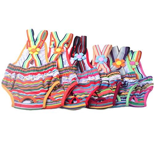 Packung mit 1 PCS Hunde Ziehen Strap Sanit?r Physiologische Hosen Unterw?sche Windeln Windeln XS ML XL (Farbe gelegentlich)