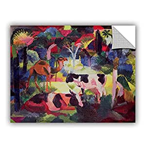 """ArtWall Franz Marc's Landscape with Cows and a Camel Art Appeelz Removable Wall Art Graphic, 36"""" x 48"""""""