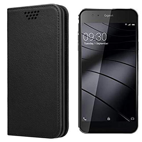 UltraProtection Schutztasche für Gigaset ME Tasche, Schutz-Hülle, Handytasche, Wallet Cover Case, Handy Etui in Schwarz
