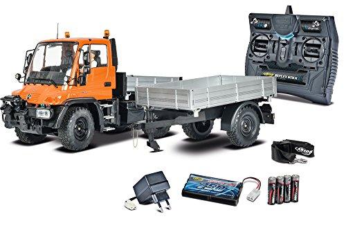Preisvergleich Produktbild Carson 500907213 - 1:12 Unimog U300 mit Anhänger 100% RTR, Fahrzeug
