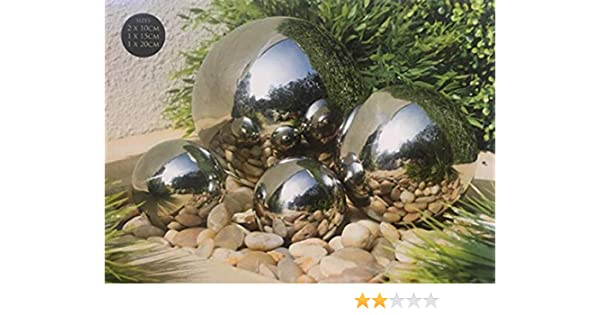 Multibrand Contemporary Gazing 4 Ball set stainless steel effect