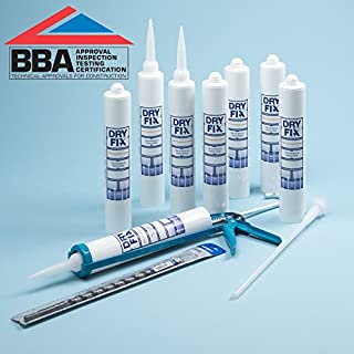DryFix DPC Damp Proofing Injection Cream 380ml BBA x 8 Kit with Free Snip-Off Tool