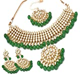 Apara Green Gold-Plated Traditional Jewellery Set for Women