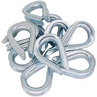 10x Kausche 4mm DIN 6899 Form B Stahl verzinkt Drahtseil-Zubehör Stahlseil Tauwerk Metall Kausch Seil-Öse Seilkausche