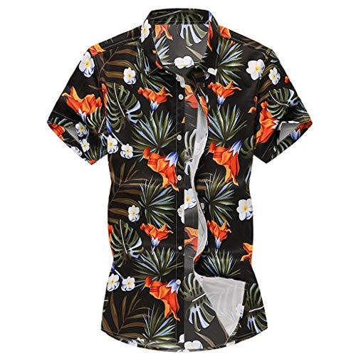 17ee1d1a225a2f Geilisungren Camisetas de Manga Cortas para Hombre Polos Shirt Floral  Impresión Camisetas Deportivas Gimnasio Músculo Formación Tank Top Verano  ...