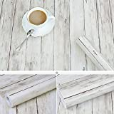 Tablones de madera rústicos decorativos Contacto de papel Auto adhesivo Estante de vinilo Revestimiento de cajón para armarios de cocina Estantes Artesanías de cajón Tatuajes de pared