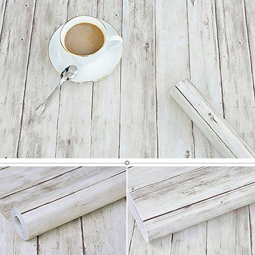 (Glow4u Rustikal Holz Plank Kontakt Papier Selbstklebendes Vinyl Regal Schublade Liner für Küche Schränke Regalen Schublade Tisch Arts Crafts Wand Aufkleber 45x 497,8cm)