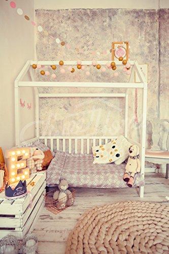 Sweet Home from Wood Cama Infantil tamaño Individual en Color Blanco