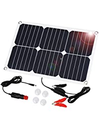 SUAOKI - 20W Cargador Panel Solar Placa Solar Plegable (Doble Puertos USB para Moviles,