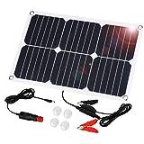 Suaoki Solar Autobatterie Panel Ladegerät 18W 18V Solarzelle Solarladegerät für