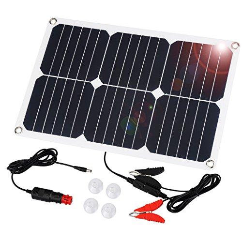 Suaoki Solar Autobatterie Panel Ladegerät 18W 18V Solarzelle Solarladegerät für Auto Boot RV Traktor Motorrad Automobil 12V Batterien (Batterie Betreuer)