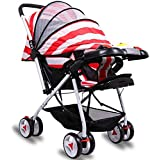 Little Olive Tweety Stroller Pram - Protection Shield and Musical Food Tray - (Red Stripes) for Newborn Baby/Kids Stroller/Pram, 0-3 Years
