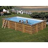 Kalendo Piscine Bois Marbella 4,27 x 2,77 x 1,19 m P7165 • Piscine/Spa/Sauna • l'univers du Jardin
