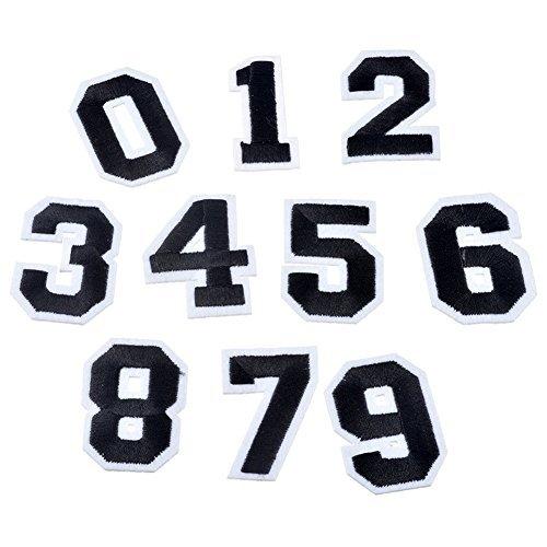 xunhui10pcs/Set Zahl 0-9Patches für Kleidung Eisen auf-Stickerei Aufkleber Badge DIY Garment Jeans Zubehör -