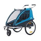 Thule Coaster Fahrradanhänger + Kinderwagen, blau
