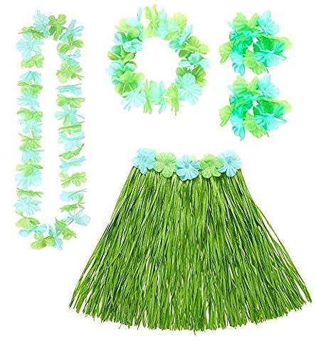 Hawaii-Set in grün-blau Einheitsgröße