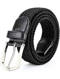 ZORO Stretchable braided cotton belt for women stylish and men, flexible belt gents flexible belt, ladies belt, unisex belt | Black,Blue,Tan,Grey,Red,Pink | colors