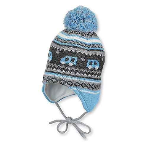Sterntaler Baby Jungen Mütze Strickmütze zum binden mit Ohrenschutz und Bommel, gefüttert von Sterntaler, türkis - 4701756 - 49türkis