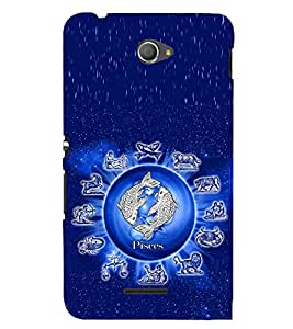 PRINTSWAG PISCES Designer Back Cover Case for SONY XPERIA E4 DUAL
