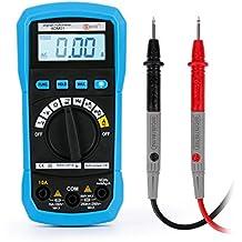 Tsing Multímetro Digital con Retroiluminación LCD para Medir Corriente CA/CC Voltaje Diodos Continuidad