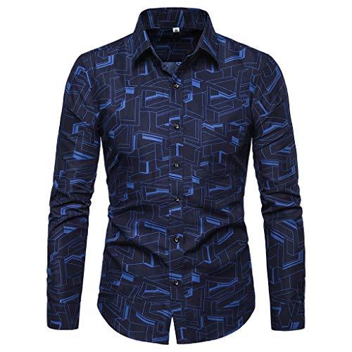 Safari Long Sleeve Tee (Oliviavane Freizeithemden Herren Hemden Regular Fit Business Langarmshirts Mode Bedruckte Anzughemd Schlankes Bequemes Poloshirts)