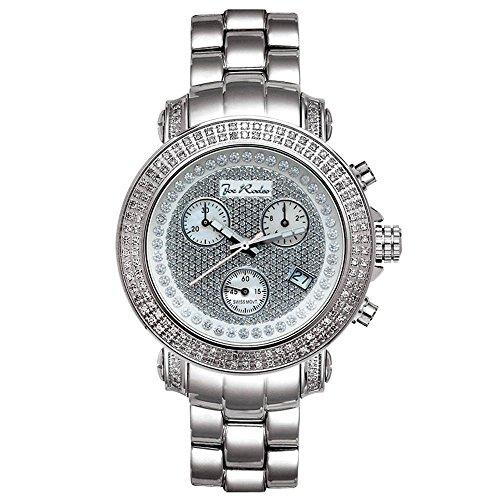 Joe Rodeo Diamond reloj de los hombres–RIO plata 1,25ctw