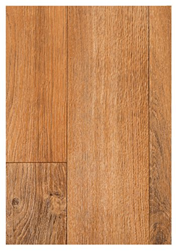 PVC Boden Vinyl Bodenbelag Holzdielen 1,2 mm Dicke Eiche 300 x 200 cm. Weitere Farben und Größen verfügbar