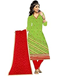 MAHI FASHION Women's Cotton Dress Material (MF14_Free Size_Multi-Coloured)