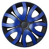 CM DESIGN MIKA Blau Schwarz - 14 Zoll, passend für Fast alle FIAT z.B. für FIAT 500