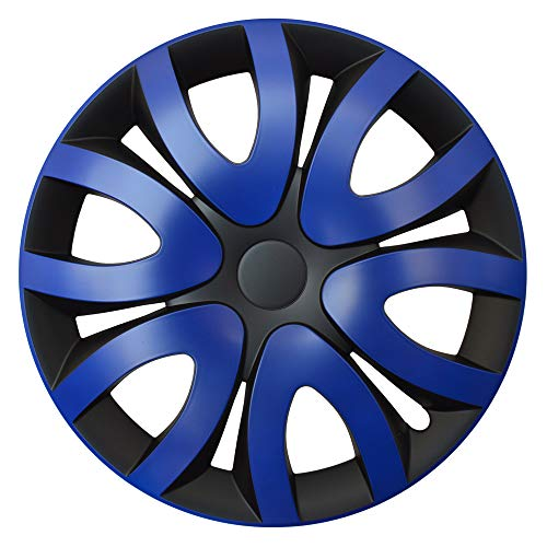 CM DESIGN MIKA Blau Schwarz - 14 Zoll, passend für Fast alle Mazda z.B. für 3 BK