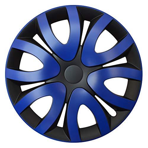 fiat grande punto radkappen CM DESIGN MIKA Blau Schwarz - 15 Zoll, passend für Fast alle FIAT z.B. für FIAT Grande Punto EVO Typ 199