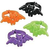 German Trendseller® - 48 x bagues de chauve-souris┃Halloween ┃décoration pour la table de halloween┃petits cadeaux pour des enfants