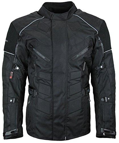 Herren Touren Motorradjacke Textil Heyberry schwarz Gr. L - 2