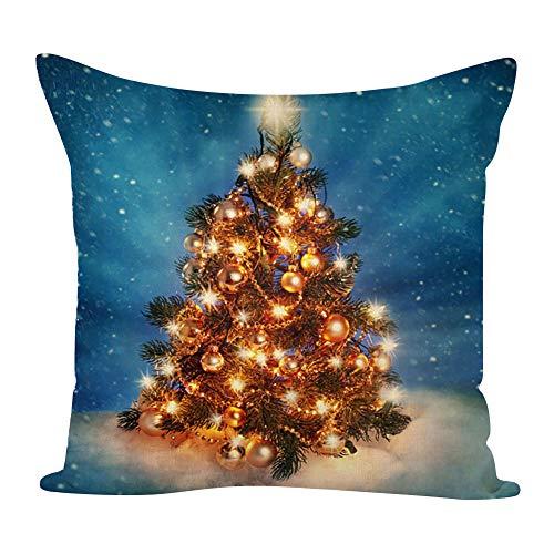 yibenwanligod Federa Decorativa per La Casa, Federa per Cuscino per Albero di Natale/Calza/Candela per Decorazioni per Feste Domestiche 1#