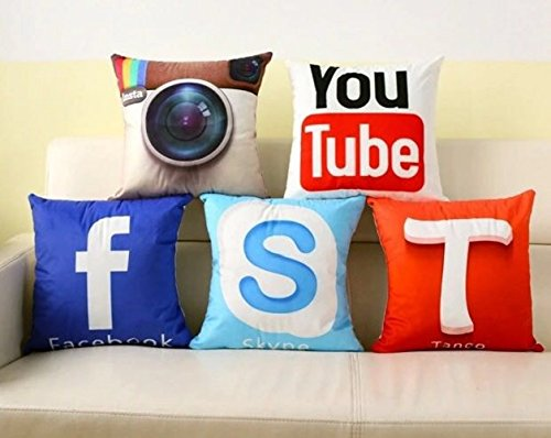 AEROHAVEN Set of 5 Multi Colored Decorative Hand Made Velvet Cotton Cushion...