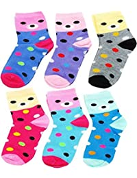 Sio™ Premium Cotton Woolen Mix Baby Boys/Girls Socks (6 Month to 5 Yrs) Pack of 6 Pairs (3-4 Years)