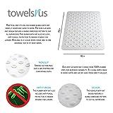 TowelsRus Anti-Fungal Non-Slip Rubber Bath Mat with Bubbles 70 x 40cm Bild 1