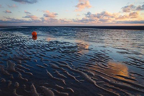 Artland Wandbilder selbstklebend aus Vliesstoff oder Vinyl-Folie Angela Dölling Endlose Weite - Insel Amrum Landschaften Gewässer Meer Fotografie Blau D3ZO