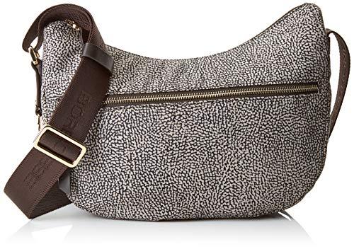 Borbonese Luna Bag, Borsa a Tracolla Donna, (Op Classico/Marrone), 28x24x11 cm (W x H x L)