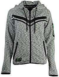 Geographical Norway - Sweat à capuche Femme Geographical Norway Fluence Gris