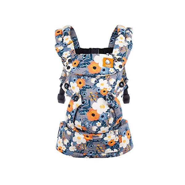 Tula Explore TBCA6F60 French Marigold - Ergonomic and Adjustable Baby Carrier with Front Position Outside Designed to Grow with Your Baby from 3, 2 to 20, 4 kg Without a Baby Cushion Tula Multiple door positions including front out, front inward and back Each position provides a natural and ergonomic position ideal for a comfortable fit that promotes healthy hip and spine development Baby carrier with an innovative main panel with an easy to adjust design in three width settings so it can be used from 3, 2 to 20, 4 kg without the need for a baby cushion. The Explore Baby Carrier has a padded adjustable neck support that can be used in multiple positions to provide head and neck support for newborn or sleeping babies. 1