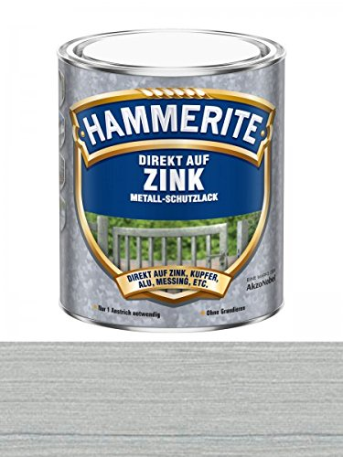 Hammerite Metallschutzlack direkt auf Zink, 075 Liter in Silber Glänzend
