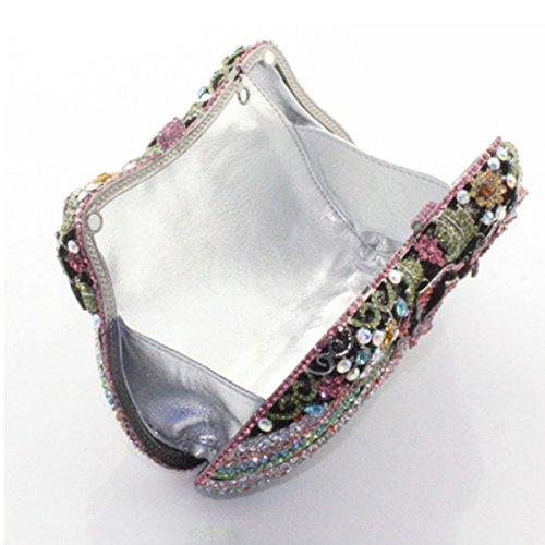 Di Lusso Delle Donne Di Cristallo Del Diamante Del Sacchetto Di Sera Borsa Del Diamante Purple