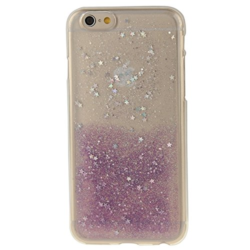 BING Für IPhone 6 / 6S, zweifarbige Star Sequins Flash Powder Serie TPU Schutzhülle BING ( Color : Blue ) Purple