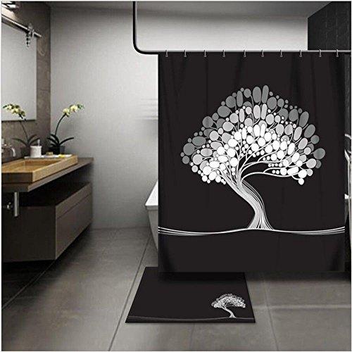 JYJSYM Wasserdicht und плесени duschvorhang Verdickung Bad duschvorhang 180x180cm, 180x200cm Polyester duschvorhang duschvorhang,Ein,180x180cm