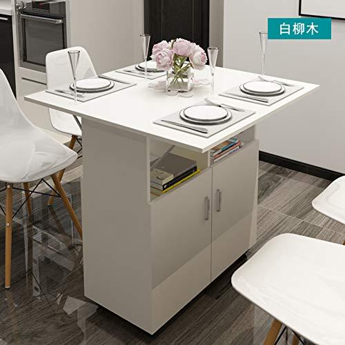 Wayward Falten Computertisch,esstisch Vielseitige Beistelltisch Für Kleine Räume Computer Schreibtisch Mit Ablagen Räder-c 80x80x79cm(31x31x31inch) (Esstisch Räume Für Kleine)