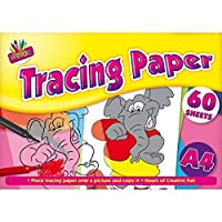 The Home Fusion Company A4 Tracing Paper Pad Art Crafts School 60 x Sheets